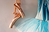 Romantic tutu and ballet shoes — Stock Photo
