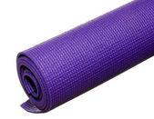 Stuoia di yoga appiccicoso isolato su bianco — Foto Stock
