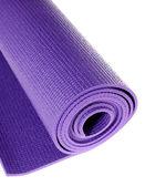 Stuoia di yoga su bianco — Foto Stock