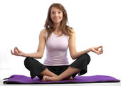 Attractive yoga woman — Stock Photo