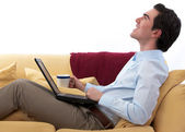 Relaxed telecommuting — Stock Photo