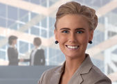 Beautiful, young businesswoman — Stock Photo