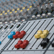 Stock Photo: Professional sound mixer closeup