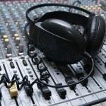 Professional sound mixer closeup — Stock Photo