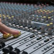 Professional sound mixer closeup - 图库照片