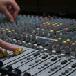 Professional sound mixer closeup - Stock Photo