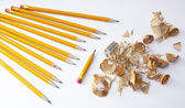 Color pencil sharpening — Stock Photo