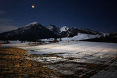 Moon Eclipse in the mountains — Stock Photo