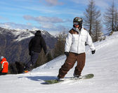 Italian Alps for snowboarding — Stock Photo