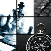 Colagem de negócios — Foto Stock