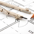 Architecture plans - Stock Photo