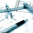 Architectur plans — Stock Photo