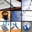 Collage of business or finance — Foto de Stock