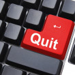 Quit button — Foto Stock