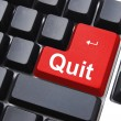Quit button - Stock Photo