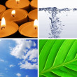 Stock Photo: Basic elements of nature