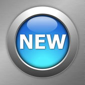 Blue new button — Stock Photo