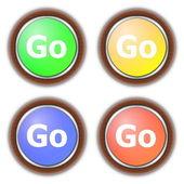 Go button collection — Stock Photo