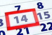 Dia 14-calendário — Fotografia Stock