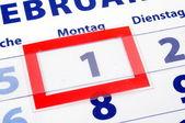 1 kalendářní den — Stock fotografie