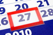 27 calendar day — Stock Photo