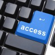 Blue access button — Stock Photo