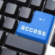 Blue access button - Stock Photo