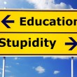 Education and stupidity - Stock Photo