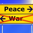 Peace and war - Stockfoto