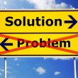 Stock Photo: Problem and solution