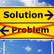 Problem and solution — Stockfoto