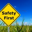 Stock Photo: Safety first