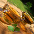 Cup tea in the garden — Stockfoto