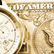 Money and watch — Stock Photo