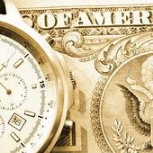 お金と時計 — ストック写真