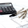 Plans for architecture — Stock Photo