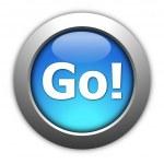 Go or start button — Stock Photo