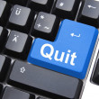 Stock Photo: Quit button