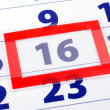 16 calendar day — Stock Photo