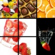 Stock Photo: Food and drink collage