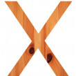 Wood alphabet X — Stock Photo