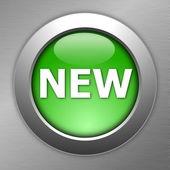 緑色の新しいボタン — ストック写真