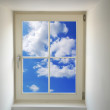 Window and blue sky — Stock Photo