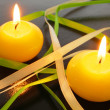 Yellow candle — Stock Photo