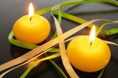 Yellow candle — Stock Photo