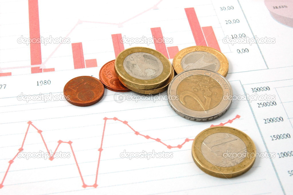 Euro money over business chart showing financial success  — Stock Photo #3014036