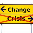 Stock Photo: Change and crisis