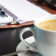 Coffee at work — Stock Photo