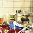 Foto Stock: Dirty dishes