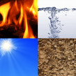 Stock Photo: The four elements